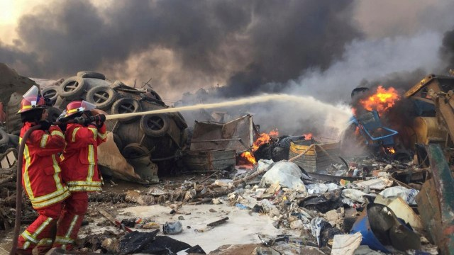 Ledakan Dahsyat di Beirut Diduga Berasal dari Gudang Bahan Peledak  (161809)
