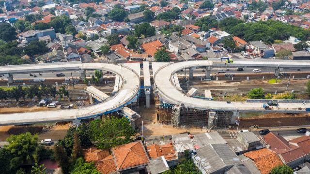 Pembangunan Flyover Tapal Kuda Lenteng Agung Capai 81%, Tanjung Barat 69% (68086)