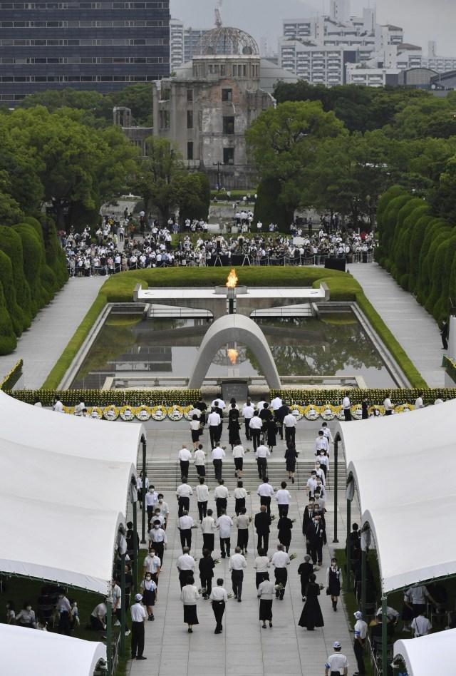 75 Tahun Peringatan Bom Hiroshima Dirayakan Secara Sederhana dan Terbatas (360653)