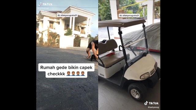 Rumah Terlalu Luas, Pria Ini Ambil Paket ke Pagar Naik Golf Cart (24330)