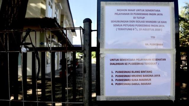 Terpaksa Tutup karena COVID-19, Begini Suasana Puskesmas Ingin Jaya, Aceh Besar (9433)