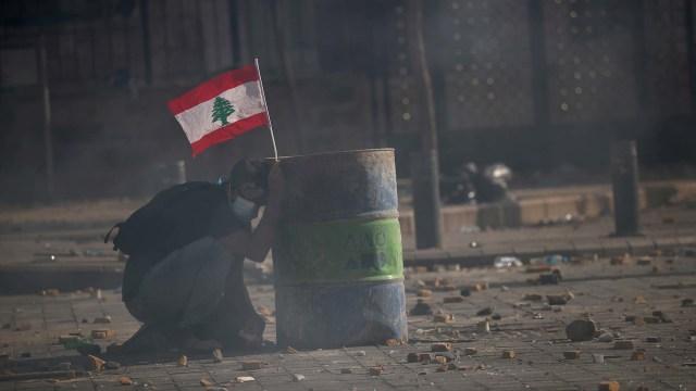 Buntut Ledakan Dahsyat, Pemerintahan Lebanon Runtuh (28557)