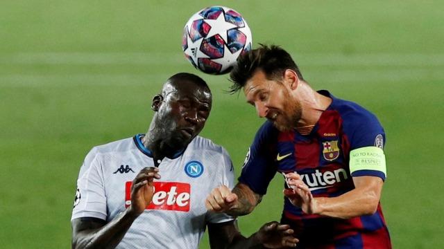 Barcelona vs Napoli: Setien Ungkap Kondisi Lionel Messi Usai Dihantam Koulibaly (17778)