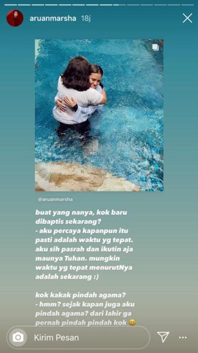Baru Dibaptis, Marsha Aruan Jawab Kabar soal Pindah Agama (356735)