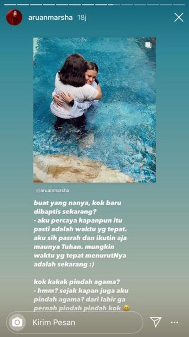 Bagikan Potret Dibaptis, Marsha Aruan Dapat Dukungan dan Doa dari Rekan Artis (351440)