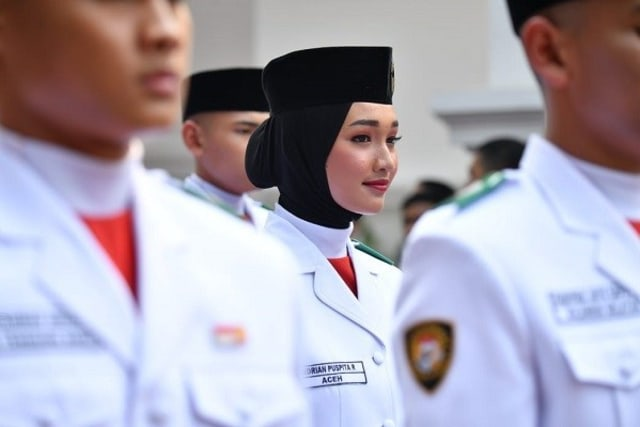 Indrian Puspita Rahmadhani, Pembawa Baki di Upacara HUT ke-75 RI (4881)