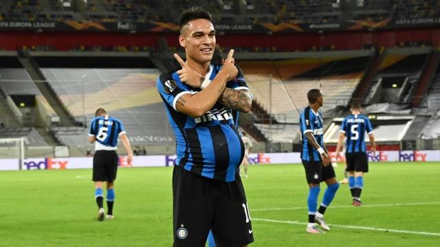 Inter vs Shakhtar: Lautaro Martinez Persembahkan 2 Golnya kepada Sang Istri (28990)