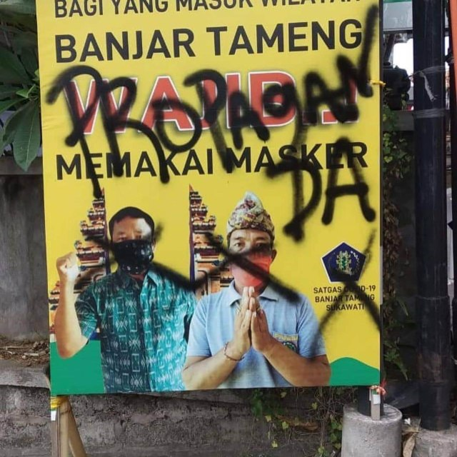 Baliho Imbauan Protokol Kesehatan Corona di Bali Jadi ...