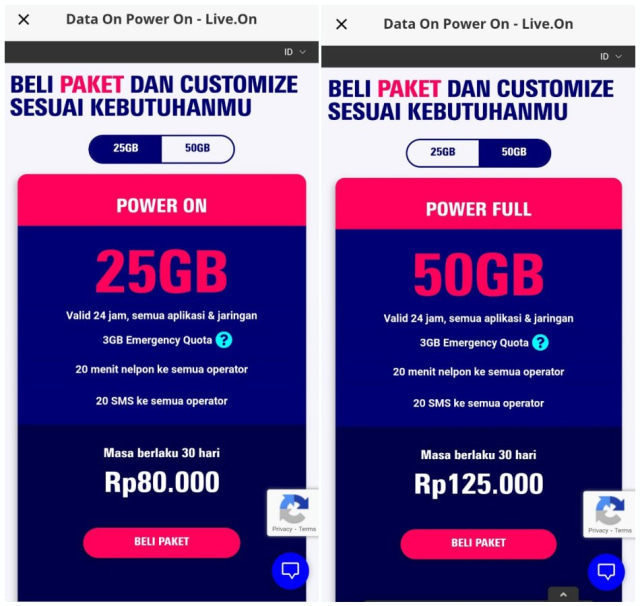 Cara Beli Nomor Kartu Perdana dan Kuota Internet Live.On dari XL Axiata (413262)