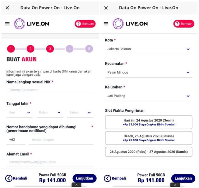 Cara Beli Nomor Kartu Perdana dan Kuota Internet Live.On dari XL Axiata (413265)
