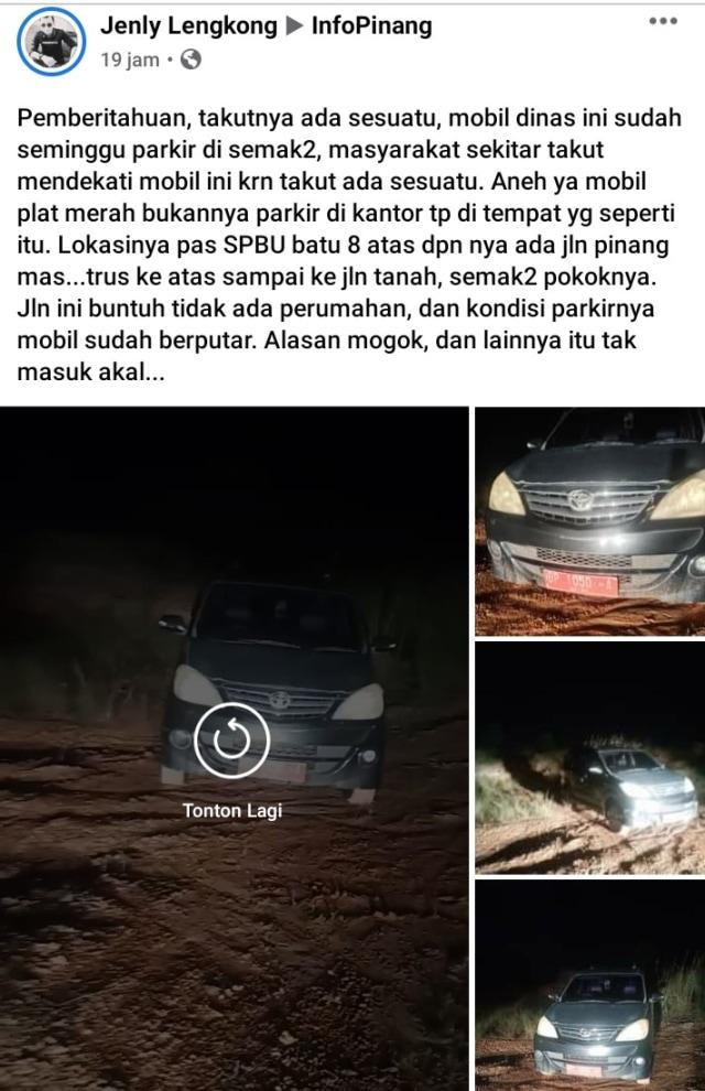 Fakta Mobil Dinas di Tanjungpinang yang Viral karena Ditinggal di Tempat Gelap (103674)