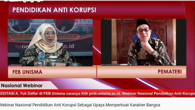 FEB UNISMA Bahas Trading in Influnce Dalam Pendidikan Anti Korupsi (586939)