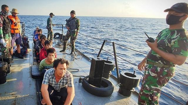 TNI AL Tangkap Lagi Kapal Nelayan Vietnam di Natuna, Setengah Ton Ikan Disita (1)