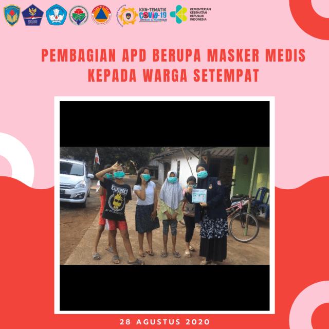 Cegah Covid-19, Mahasiswa KKN-T UPGRIS Ikut Berpartisipasi di Desa Binaan (8330)