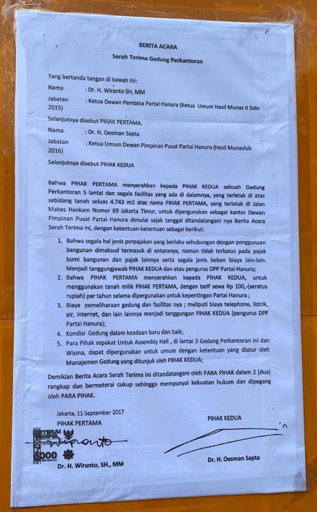 Hanura Respons Penyegelan Kantor di Cilangkap: Gedung Sudah Diserahkan Wiranto (216898)
