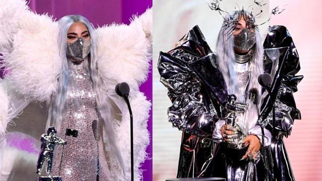 Bikin Bangga, Lady Gaga Pakai Masker Karya Desainer Indonesia di MTV VMA 2020 (6760)