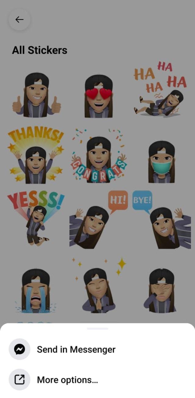 Cara Pakai Stiker Avatar Facebook di Chat WhatsApp (77924)