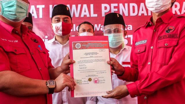 Whisnu Sakti Buana ke Kader PDIP di Pendaftaran Eri Cahyadi: Menangkan Surabaya (294678)