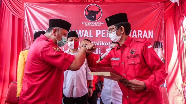Whisnu Sakti Buana ke Kader PDIP di Pendaftaran Eri Cahyadi: Menangkan Surabaya (294677)