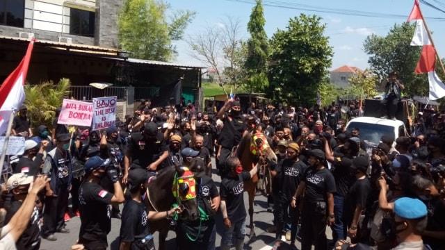 Naik Kuda Hitam, Penjahit Penantang Gibran Resmi Daftar di KPU Solo (327409)