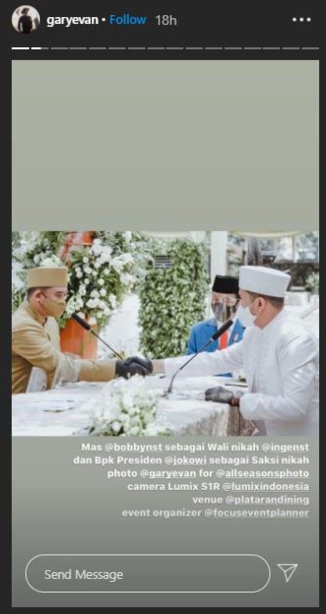 5 Potret Pernikahan Kakak Ipar Kahiyang Ayu, Jokowi Jadi Saksi Nikah (375734)