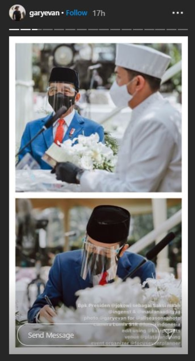 5 Potret Pernikahan Kakak Ipar Kahiyang Ayu, Jokowi Jadi Saksi Nikah (375735)