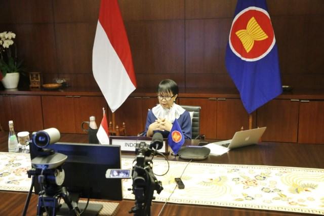 Menlu Retno: ASEAN-AS Harus Kerja Sama untuk Ketahanan Kesehatan (23119)