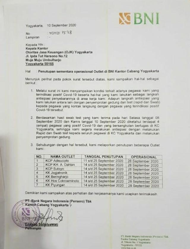 Pegawai Positif Covid 19 7 Kantor Bni Di Jogja Tutup Sementara Kumparan Com