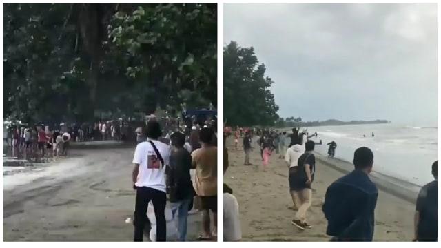 Balap Motor Antimainstream, Para Pemuda Ini Gelar Balapan di Pinggir Pantai  (306247)
