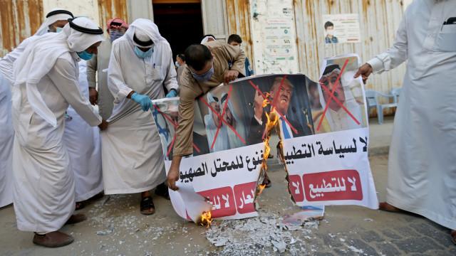 Foto: Warga Palestina Gelar Protes Buntut Kesepakatan Damai Bahrain dan Israel (512241)