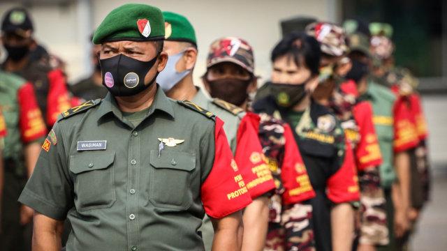 Foto: Gelar Pasukan Pendukung Penegakan Protokol Kesehatan PSBB di Jakarta (209234)