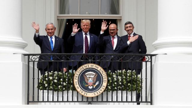 Bahrain, UEA, dan Israel Teken Perjanjian Damai di Gedung Putih, Dipandu Trump (89470)