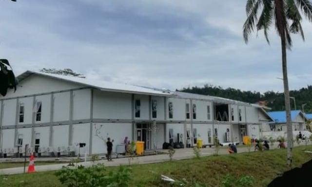 Rumah Sakit Corona di Galang Rusak Diterjang Angin Kencang (2994)