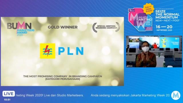PLN Raih 3 Penghargaan di Ajang BUMN Marketeers Award 2020 (315614)