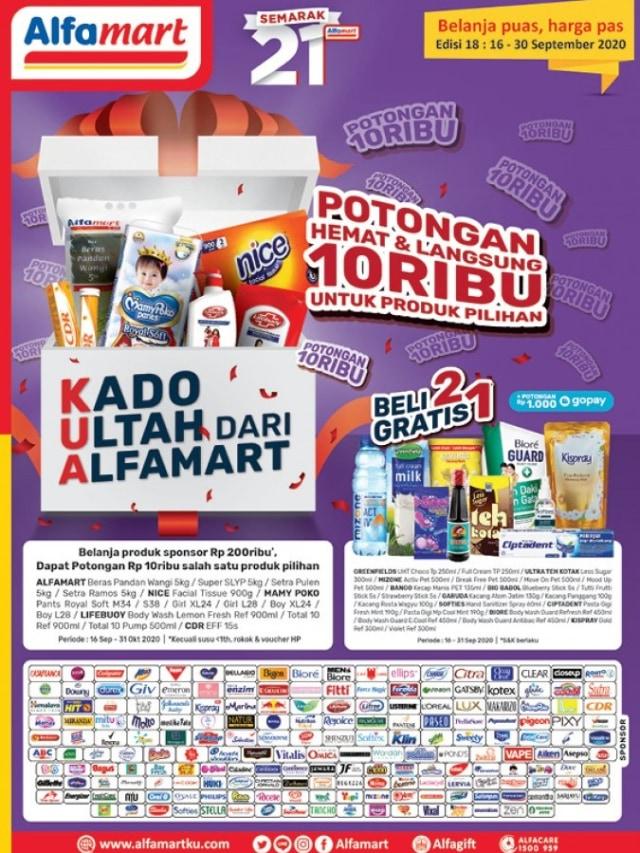 Promo Alfamart Beli Dua Gratis Satu Untuk Sambut Ulang Tahun Ke 21 Kumparan Com