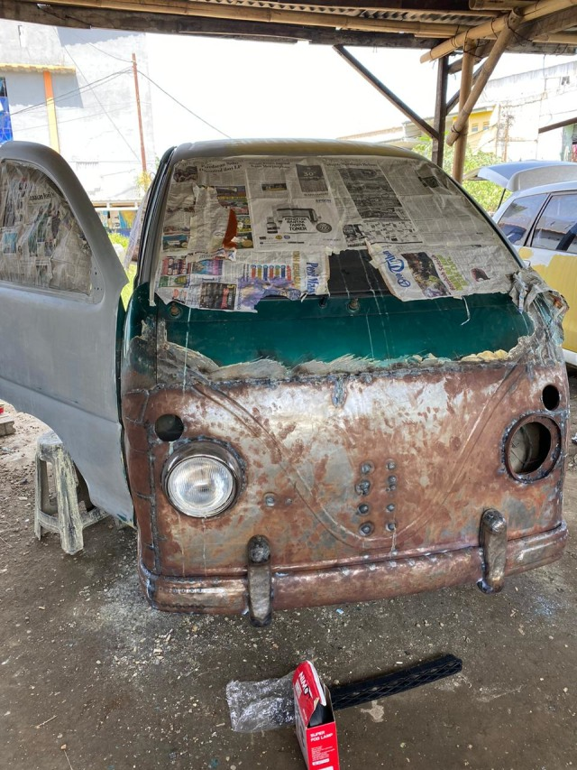 Foto: Kerennya Tampilan Daihatsu Espass yang Disulap Jadi VW Kombi (34081)