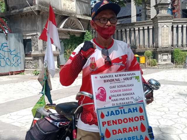 Kisah Agus Hadikarta, Bersepeda dari Bandung-Solo dan Sosialisasikan Donor Darah (212271)