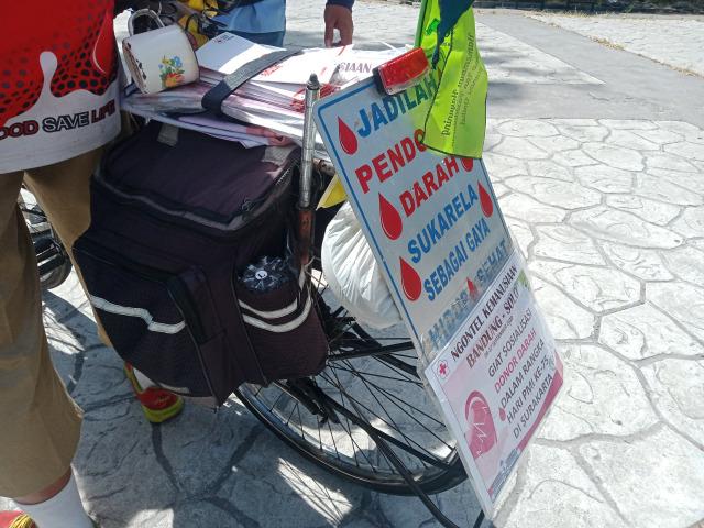 Kisah Agus Hadikarta, Bersepeda dari Bandung-Solo dan Sosialisasikan Donor Darah (212273)