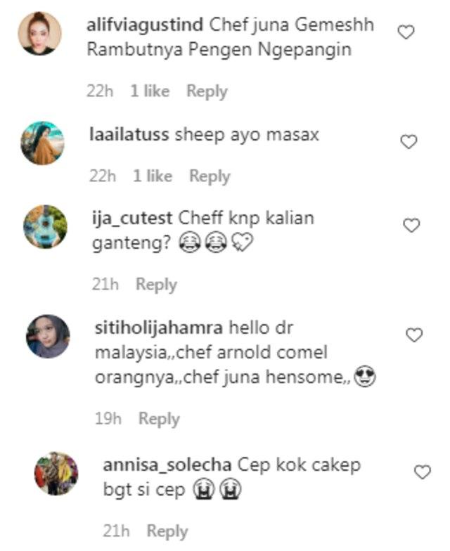 Puji Netizen saat Chef Arnold Poernomo Unggah Foto Bersama Chef Juna (66248)