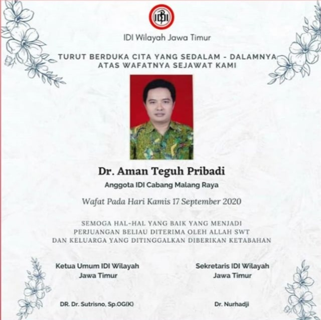Lagi, Dokter di Malang Meninggal Akibat COVID-19 (285157)