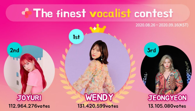 Red Velvet: Wendy Sabet Gelar 'The Finest Vocalist' (78331)
