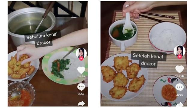 Kocak, Wanita Ini Perlihatkan Cara Makan Sebelum dan Sesudah Keracunan Drakor (23445)