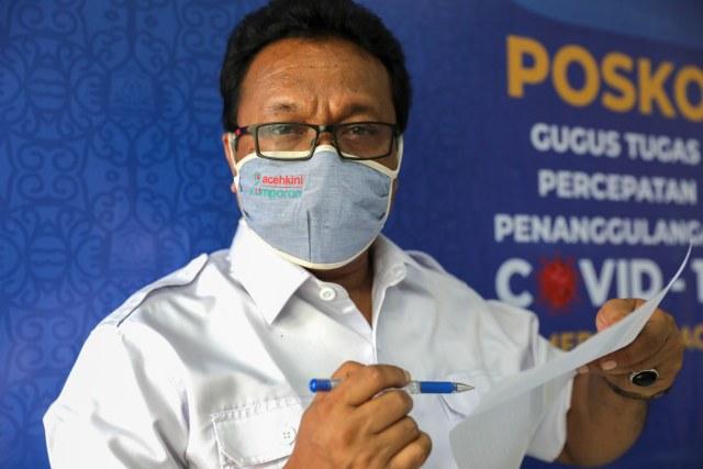 Update COVID-19 di Aceh: 1.408 Sembuh, 134 Meninggal, 2.052 Dirawat (3223)