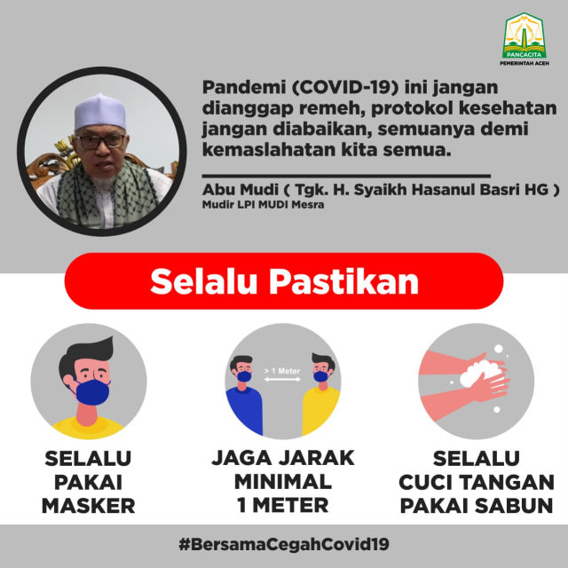 Update COVID-19 di Aceh: 1.408 Sembuh, 134 Meninggal, 2.052 Dirawat (3225)
