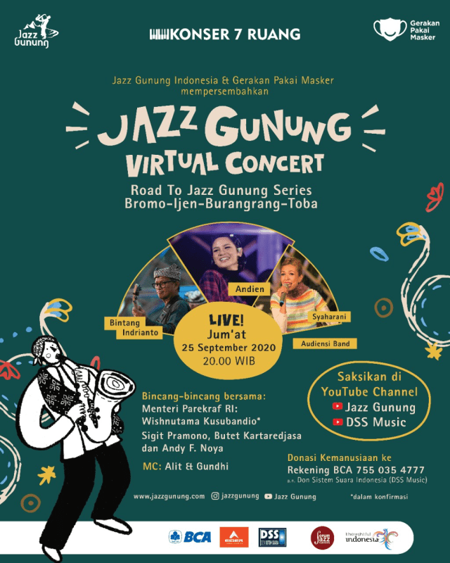 Dimeriahkan Andien, Konser Road to Jazz Gunung Series Digelar 25 September 2020 (5443)