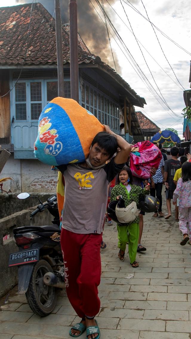 Foto: Kebakaran Permukiman Padat Penduduk di Palembang (73601)