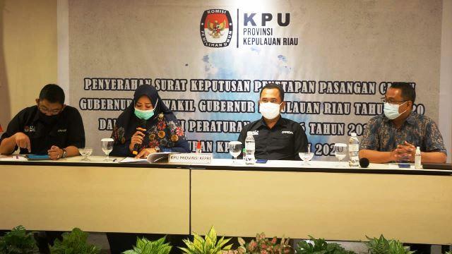 KPU Tetapkan Tiga Pasangan Calon Peserta Pilkada Kepri (5511)