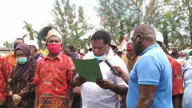 Ratusan Warga Sorong, Papua Barat, Desak Presiden Percepat Pemekaran PBD (227072)
