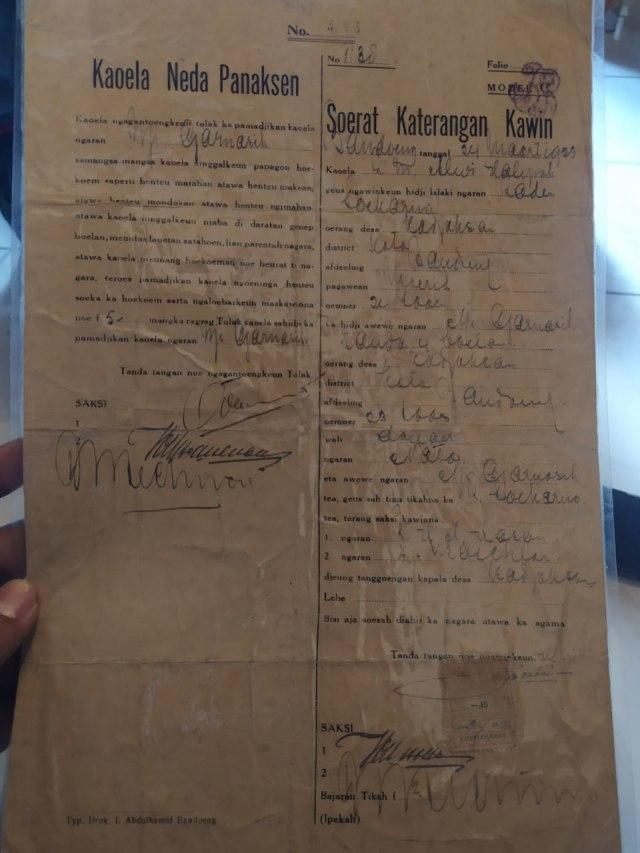 Ahli Waris akan Serahkan Surat Cerai-Nikah Inggit dan Sukarno ke Negara  (10999)