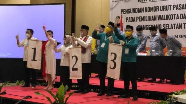 Nomor Urut Pilwalkot Tangsel: Muhamad-Rahayu 1, Siti-Ruhamaben 2, Ben-Pilar 3 (52245)